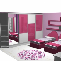 Детска стая в розово за момичета  София