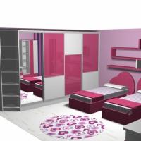 Детска стая в розов МДФ за момичета  София